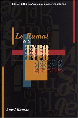 9782922366037: Le Ramat de la typographie