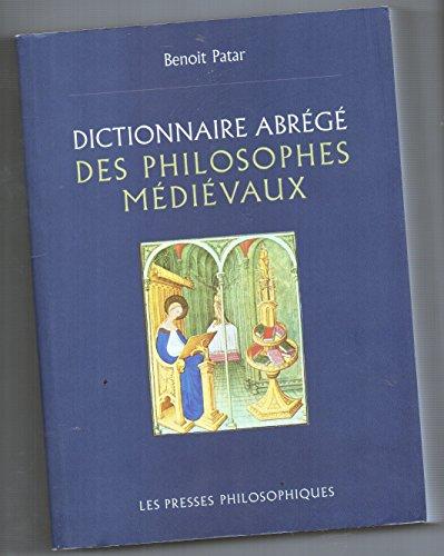 9782922712018: Dictionnaire abrégé des philosophes médiévaux