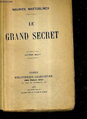 9782922941142: Le grand secret