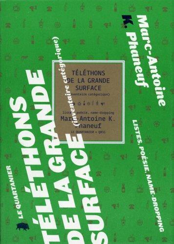 9782923400464: telethons de la grande surface inventaire categorique