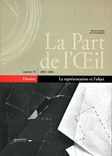 9782930174303: La Part de l'Oeil, N° 19 (French Edition)
