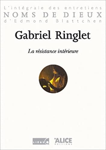 9782930182100: Gabriel Ringlet. La Résistance intérieure