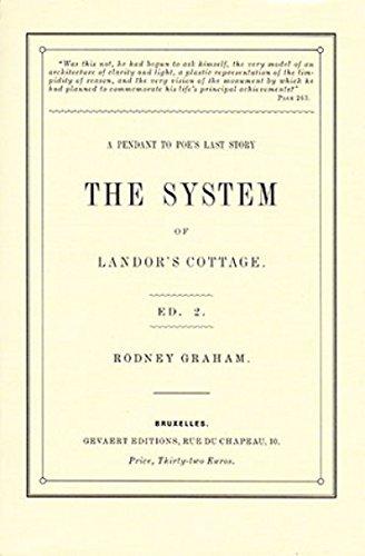 9782930619026: The System of Landor's Cottage: A Pendant to Poe's Last Story