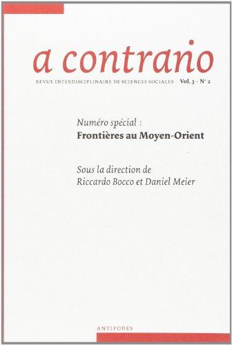 A CONTRARIO VOL 3 N 2 -FRONTIERES AU MOY: COLLECTIF REVUE