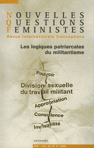 9782940146703: Nouvelles Questions Féministes, Volume 24, N° 3 / 20 (French Edition)