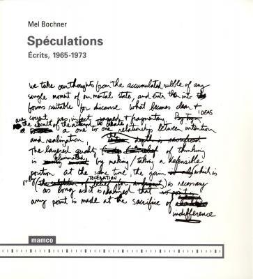 SPECULATIONS ECRITS 1965 1973: BOCHNER MEL