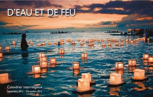 9782940318476: Calendrier Interreligieux 2011-2012 d'Eau et de Feu