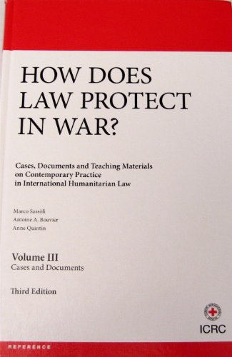 9782940396122: How Does Law Protect In War? - Volume 3