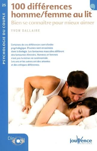 9782940420506: 100 differences hommes/femmes au lit (French Edition)