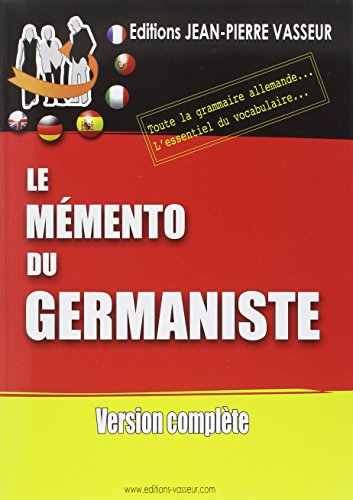 9782950120960: Memento du germaniste vers.complete (French Edition)