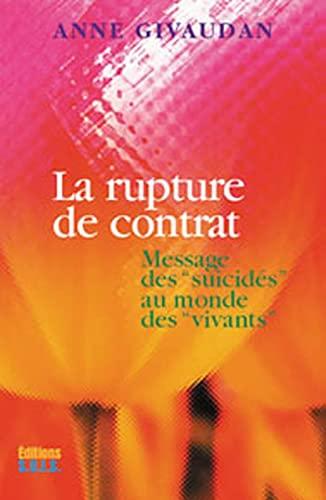 RUPTURE DE CONTRAT -LA-: GIVAUDAN ANNE