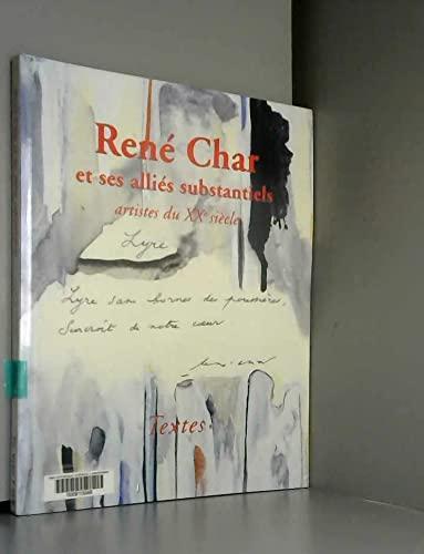 9782952022200: René Char et ses alliés substantiels : Artistes du XXe siècle
