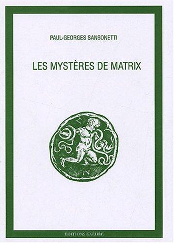 9782952069915: Les mystères de Matrix