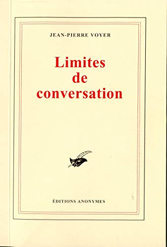 9782952352918: Limites de conversation