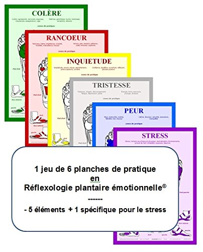 9782952675833: Jeu de 6 Planches de Pratique, Reflexologie Plantaire Emotionnelle