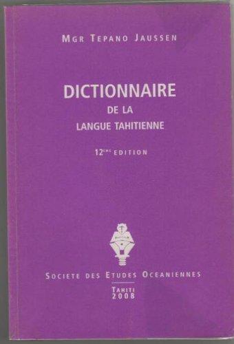 9782952851718: Dictionnaire de la langue tahitienne
