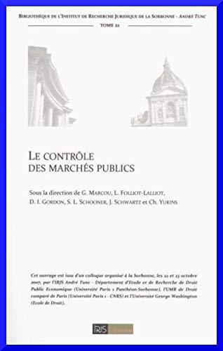 9782953453935: Le contrôle des marchés publics