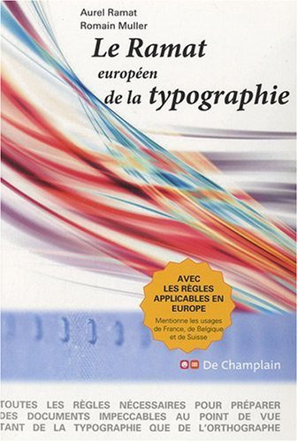 9782953496505: le ramat, européen de la typographie