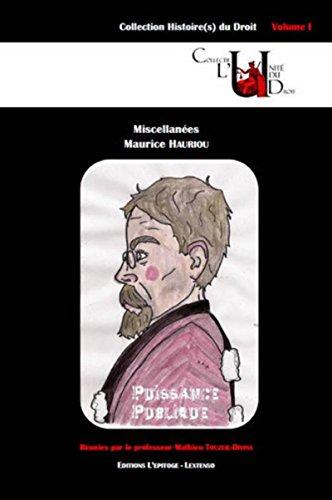 Miscellanées Maurice Hauriou: Maurice Hauriou