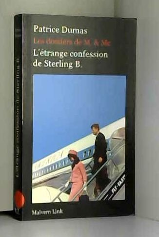 9782954257303: L'étrange confession de Sterling B.