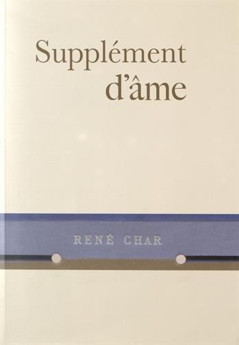 9782954585314: Supplément d'âme : René Char