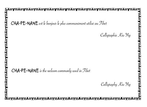 9782955180150: Calligraphies tibétaines