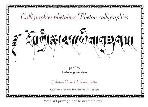 9782955180167: Calligraphies tibétaines