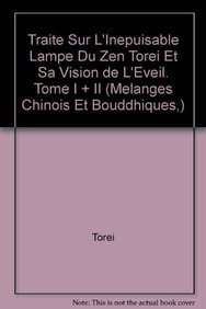 Traité sur l'inépuisable lampe du zen: Mohr M.,