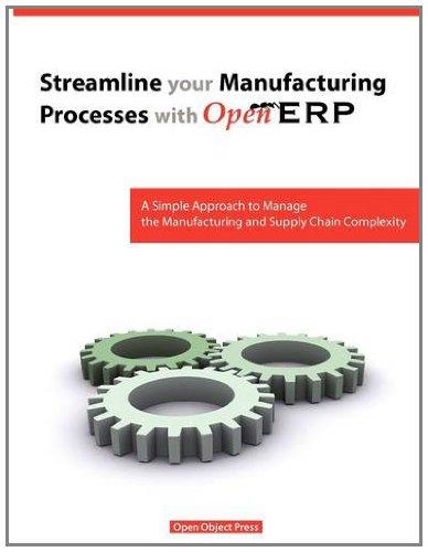Streamline Your Manufacturing Processes with Openerp: Fabien, Pinckaers; Els, Van Vossel