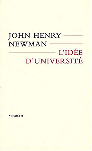 9782970055983: L'idée d'université (French Edition)