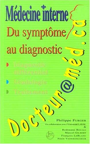 9782980775932: docteur@med. ca: medecine interne, du symptome au diagnostic (2e tir. )