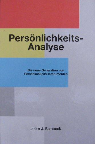 9783000020803: Persönlichkeitsanalyse. Die neue Generation von Persönlichkeitselementen