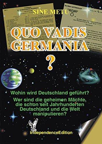 9783000046568: Quo Vadis Germania? (Livre en allemand)
