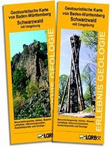 9783000142192: Geotouristische Karte von Baden-Württemberg - Schwarzwald mit Umgebung: Besucherbergwerke, Höhlen, Museen, Lehrpfade, Naturschutzzentren, Aussichtspunkte und Geotope
