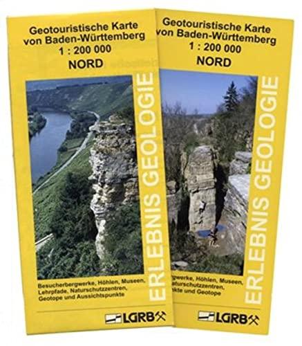 9783000178184: Geotouristische Karte von Baden-Württemberg Nord: Besucherbergwerke, Höhlen, Museen, Lehrpfade, Naturschutzzentren, Geotope und Aussichtspunkte