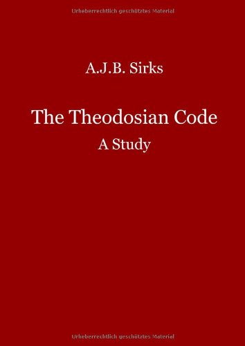 9783000227776: The Theodosian Code. A Study