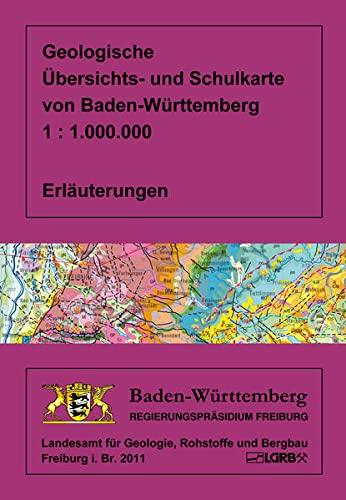 9783000345579: Geologische Übersichts- und Schulkarte von Baden-Württembreg 1 : 1 000 000