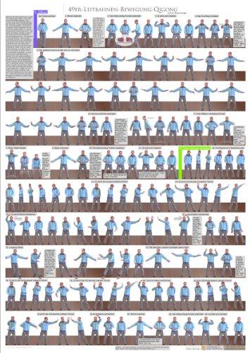 9783000403569: Qigong Poster 49er: 49er Leitbahnen-Bewegungs-Qigong nach Prof Zhang