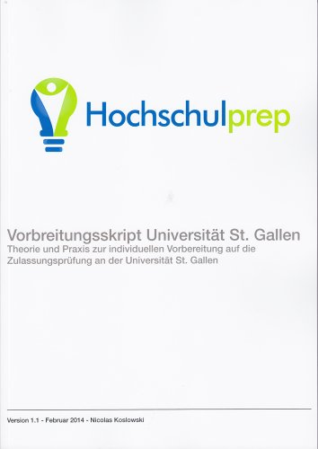 9783000450730: Vorbereitungsskript Universität St. Gallen