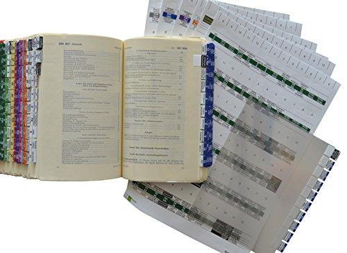 9783000542480: Steinfacher Griffregister fürs Steuerrecht (Loseblattsammlung), 1.900 Aufkleber inkl. 1500 Folien & 2 Einklebeschablonen