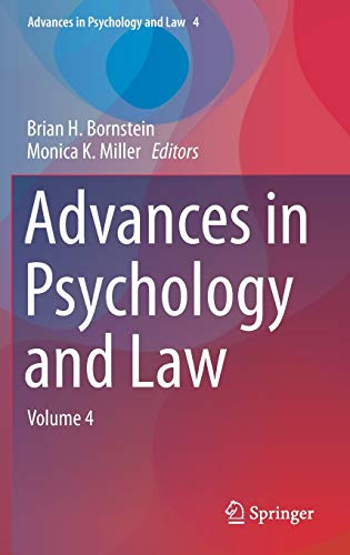 Advances in Psychology and Law : Volume 4 - Brian H. Bornstein