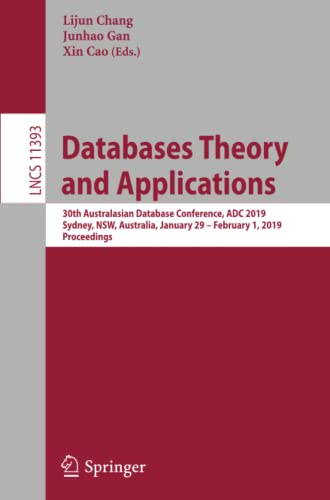 Databases Theory and Applications: Xin Cao