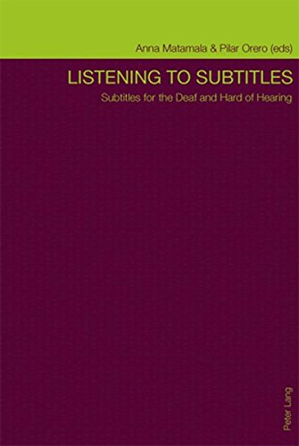 9783034303538: Listening to Subtitles: Subtitles for the Deaf and Hard of Hearing