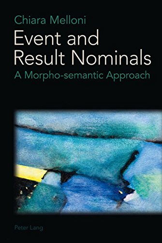 9783034306584: Event and Result Nominals: A Morpho-Semantic Approach