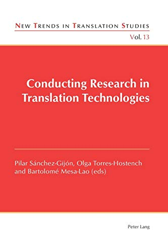 9783034309943: Conducting Research in Translation Technologies