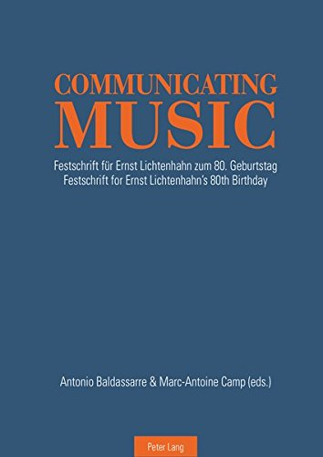 9783034316255: Communicating Music: Festschrift für Ernst Lichtenhahn zum 80. Geburtstag – Festschrift for Ernst Lichtenhahn's 80th Birthday (English and German Edition)