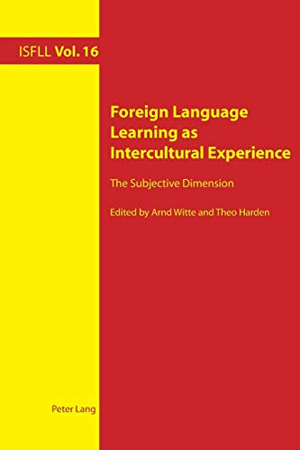 9783034318792: Foreign Language Learning as Intercultural Experience: The Subjective Dimension (Intercultural Studies and Foreign Language Learning)