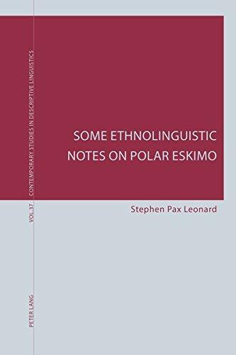 9783034319478: Some Ethnolinguistic Notes on Polar Eskimo