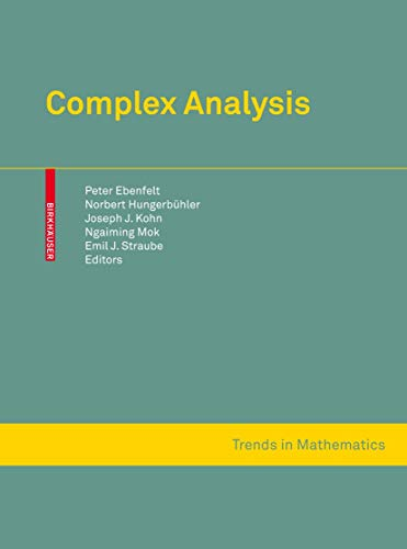 9783034600088: Complex Analysis: Several Complex Variables and Connections with PDE Theory and Geometry (Trends in Mathematics)