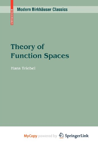9783034604178: Theory of Function Spaces